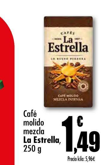 Oferta de Café molido mezcla La Estrella 250 g por 1,49€