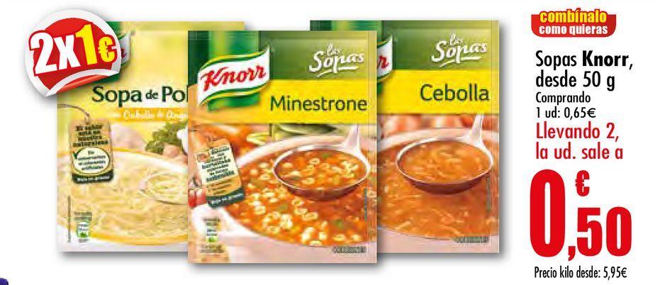 Oferta de Sopa Knorr desde 50 g por 0,65€