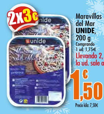 Oferta de Maravillas de Mar Unide, 200 g por 1,75€