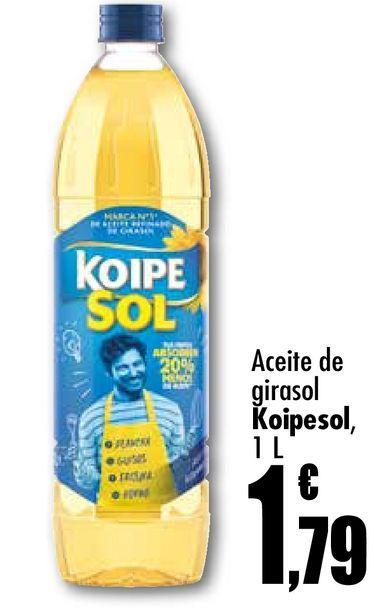 Oferta de Aceite de girasol koipesol 1l por 1,79€