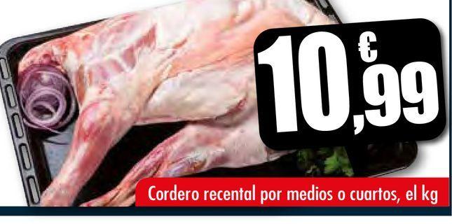 Oferta de Cordero recental por medios o cuartos por 10,99€