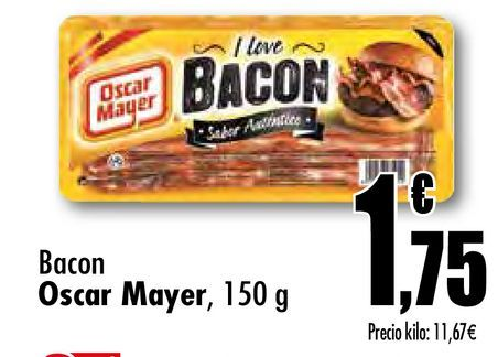 Oferta de Bacon Oscar Mayer, 150 g por 1,75€