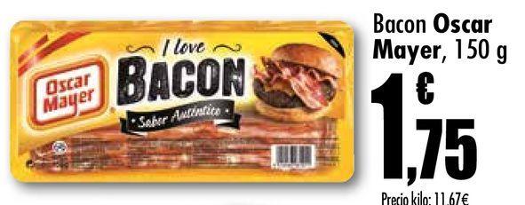 Oferta de Bacon Oscar Mayer 150 g por 1,75€
