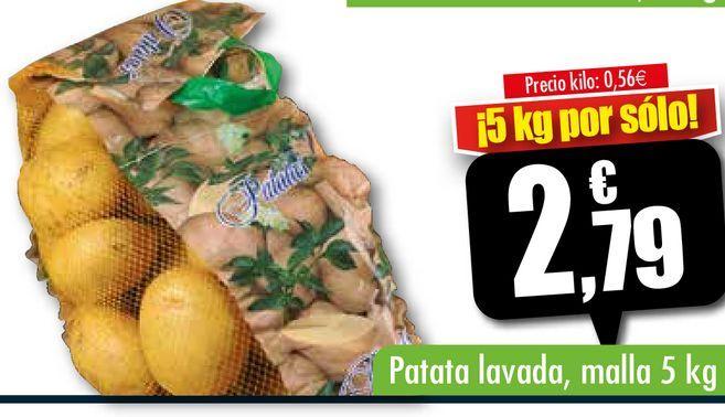 Oferta de Patatas lavadas, malla 5 kg por 2,79€