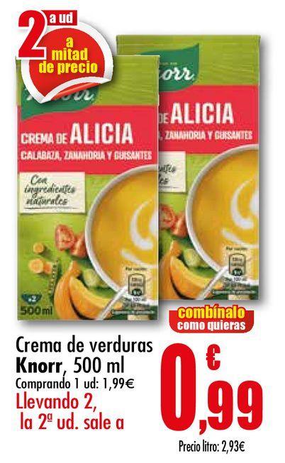 Oferta de Crema de verduras Knorr, 500 ml por 1,99€