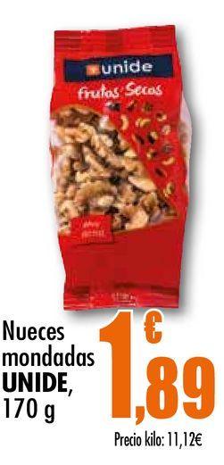 Oferta de Nueces mondadas  Unide, 170 g por 1,89€