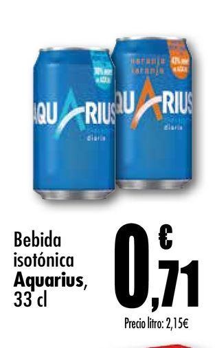 Oferta de Bebida isotónica Aquarius 33 cl por 0,71€