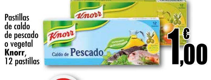 Oferta de Pastillas de caldo de pesacado o vegetal Knorr, 12 pastillas  por 1€