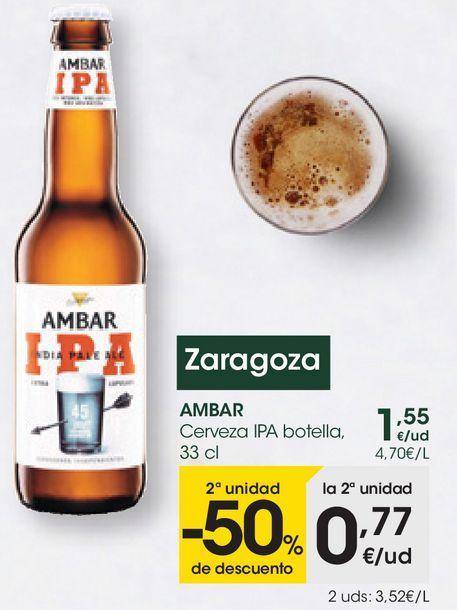 Oferta de AMBAR Cerveza IPA botella  por 1,55€