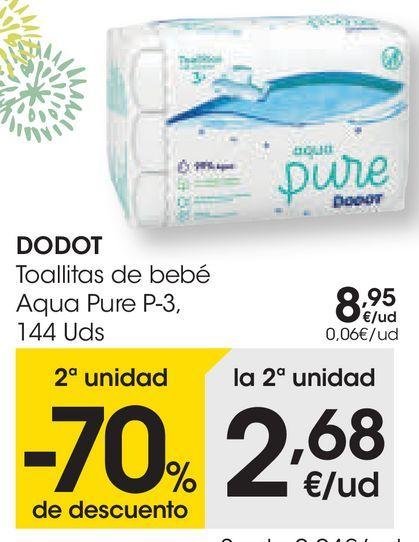 Oferta de DODOT Toallitas de bebé Aqua Pure  por 8,95€