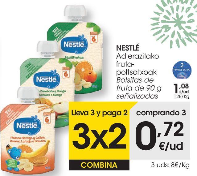 Oferta de En las bolsitas de fruta NESTLÉ  por 1,08€