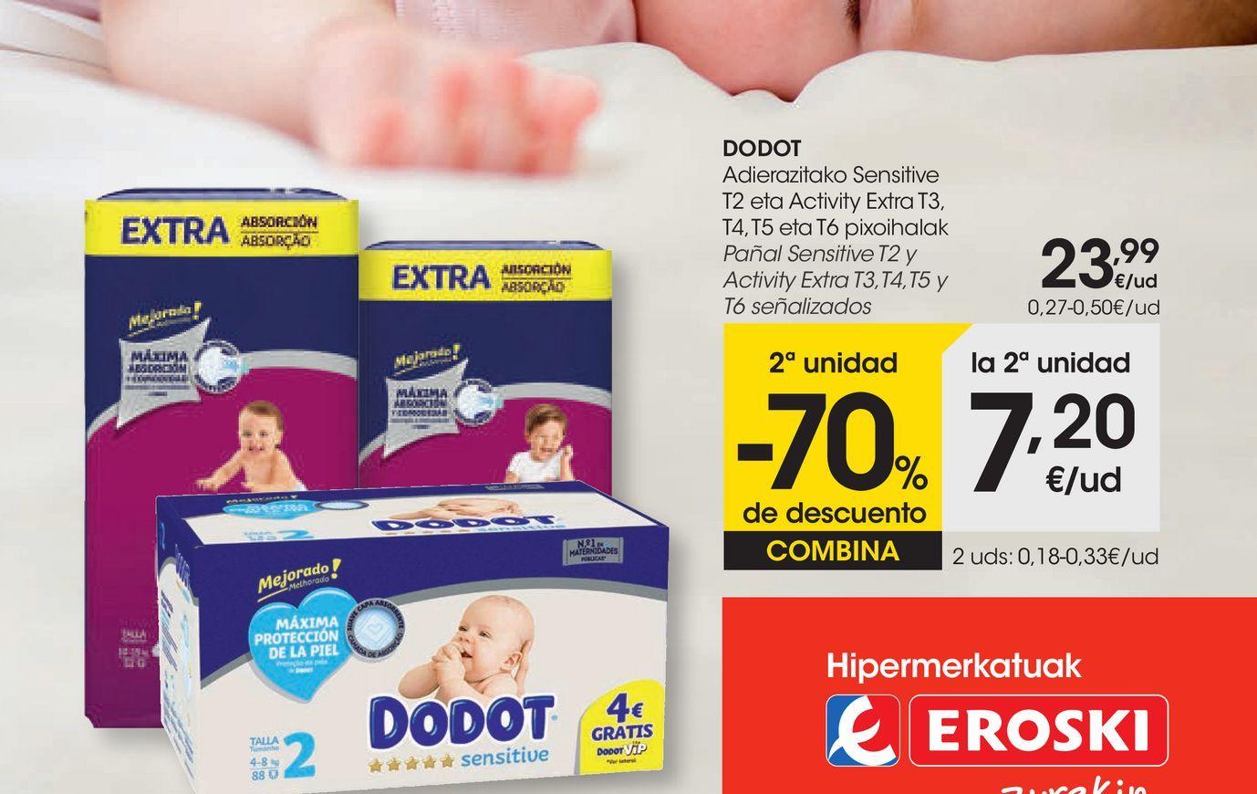 Oferta de En los pañales DODOT señalizados por 23,99€