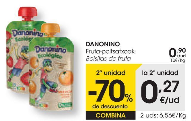 Oferta de DANONINO Bolsitas de fruta  por 0,9€