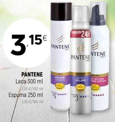 Oferta de Laca, espuma Pantene por 3,15€