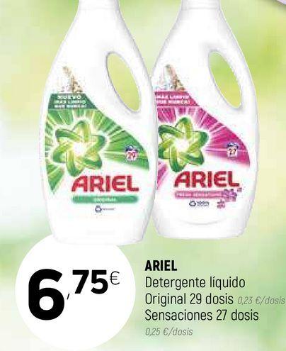 Oferta de Detergente líquido Ariel por 6,75€