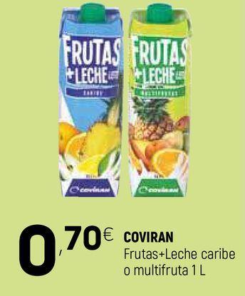 Oferta de Frutas+leche caribe o multifrutas coviran por 0,7€