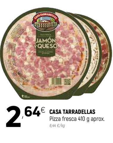 Oferta de Pizza de jamón y queso Casa Tarradellas por 2,64€