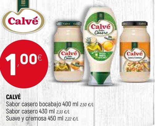 Oferta de Salsas Calvé por 1€