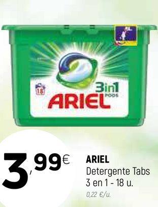 Oferta de Detergente en cápsulas Ariel por 3,99€