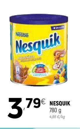 Oferta de Cacao soluble Nesquik por 3,79€