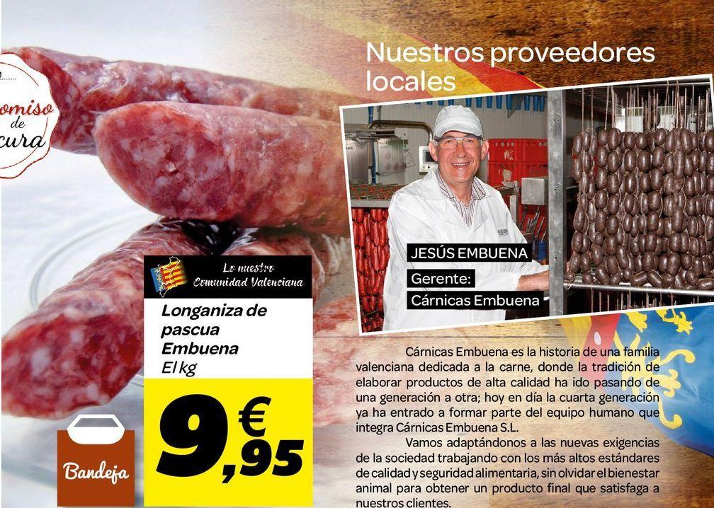Oferta de Longaniza de pascua Embuena por 9,95€