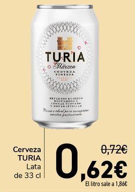 Oferta de Cerveza TURIA  por 0,62€