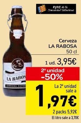 Oferta de Cerveza LA RABOSA  por 3,95€