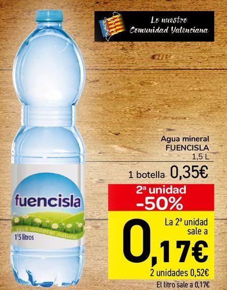 Oferta de Agua mineral FUENCISLA  por 0,35€