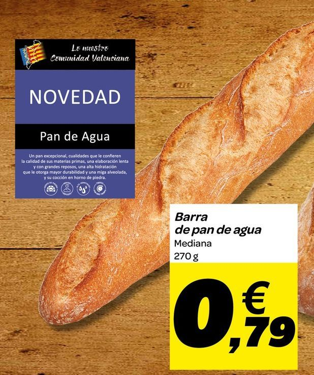 Oferta de Barra de pan de agua por 0,79€