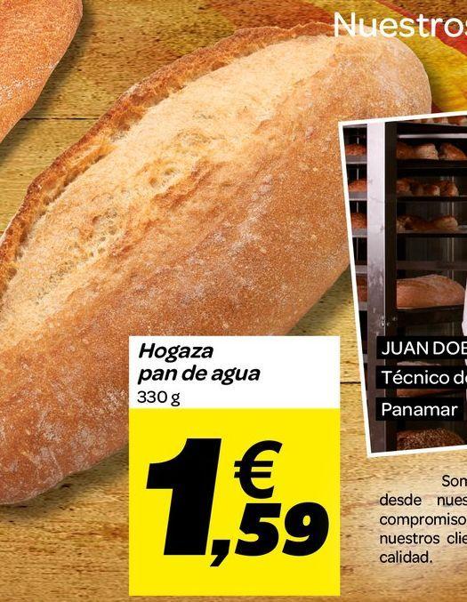 Oferta de Hogaza pan de agua por 1,59€