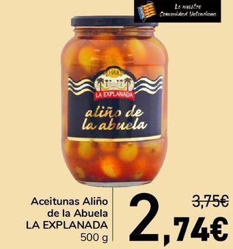 Oferta de Aceitunas Aliño de la Abuela LA EXPLANADA  por 2,74€