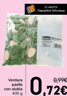 Oferta de Verdura paella con alubia  por 0,72€