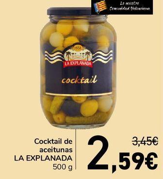 Oferta de Cocktail de aceitunas LA EXPLANADA  por 2,59€
