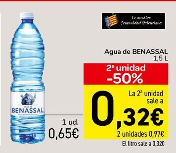 Oferta de Agua de BENASSAL  por 0,65€