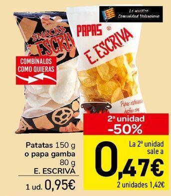 Oferta de Patatas o papa gamba E.ESCRIVA  por 0,95€