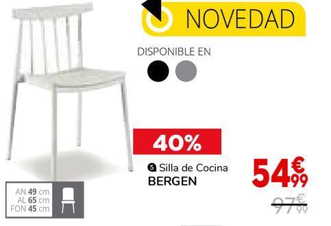 Oferta de Silla de cocina Bergen por 54,99€