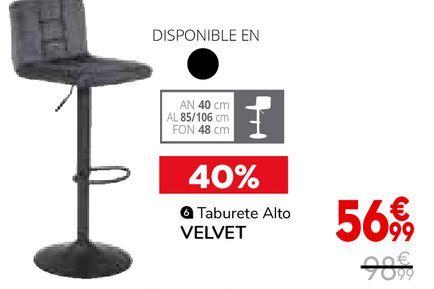 Oferta de Taburete alto Velvet por 56,99€