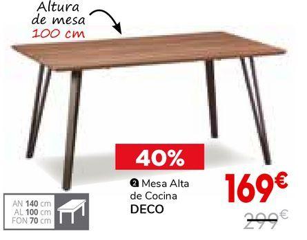 Oferta de Mesa alta de cocina por 169€
