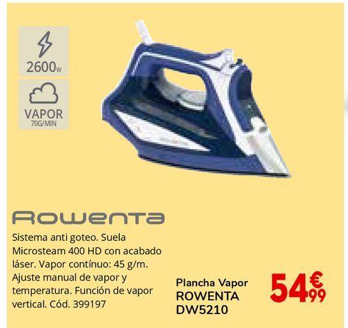 Oferta de Plancha de vapor Rowenta por 54,99€