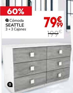 Oferta de Cómoda Seattle 3+3 cajones por 79,99€