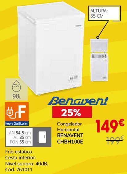 Oferta de Congelador horizontal Benavent por 149€