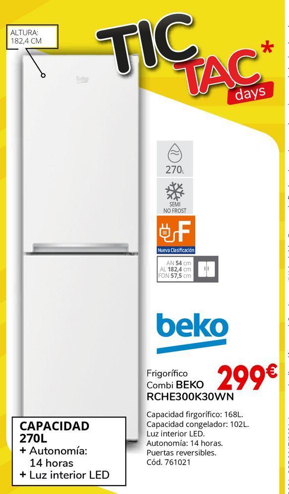 Oferta de Frigorífico combi Beko por 299€