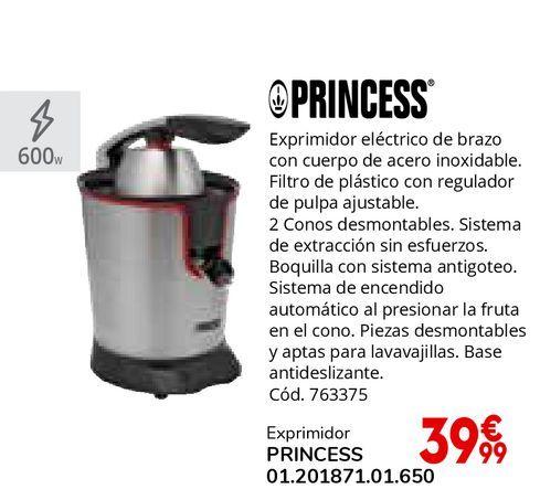 Oferta de Exprimidor eléctrico de brazo con cuerpo de acero inoxidable por 39,99€