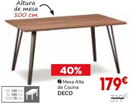 Oferta de Mesa alta de cocina por 179€