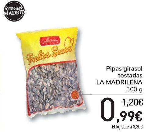 Oferta de Pipas girasol tostadas LA MADRILEÑA por 0,99€