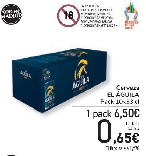 Oferta de Cerveza EL ÁGUILA por 6,5€