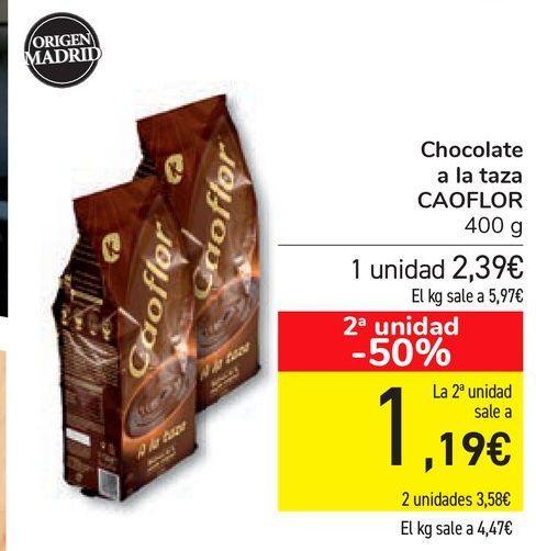 Oferta de Chocolate a la taza CAOFLOR por 2,39€