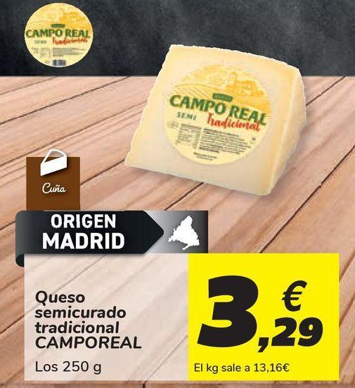 Oferta de Queso semicurado tradicional CAMPOREAL por 3,29€