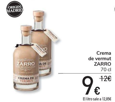 Oferta de Crema de vermut ZARRO por 9€