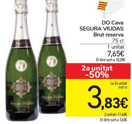 Oferta de DO Cava SEGURA VIUDAS Brut reserva  por 7,65€